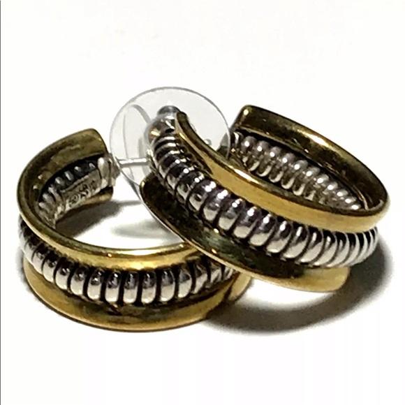 fab4b6875 Silpada Wide Hoop Earrings 925 Silver Brass Rope. M_5bc1487daa57198e36cdba22
